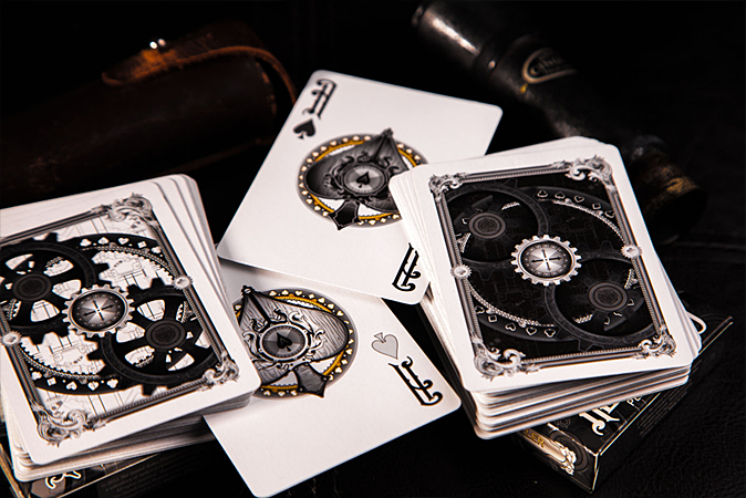 black-and-white-actuators-steampunk-playing-cards-stack